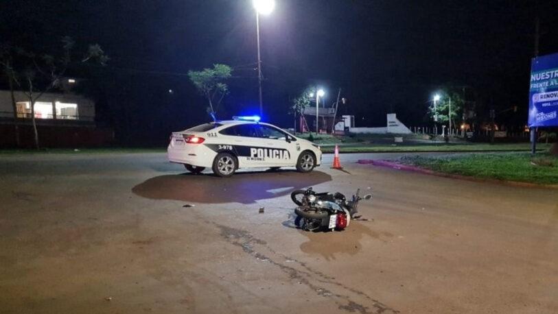 Eldorado: un motociclista resultó gravemente herido tras chocar con un auto