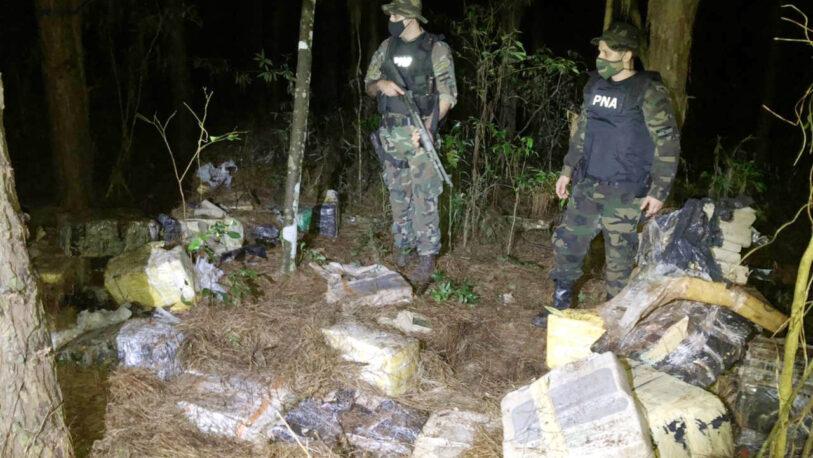 Encuentran casi cuatro toneladas de droga ocultas entre pinos y eucaliptos