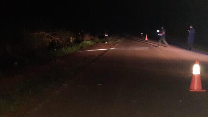 Falleció un motociclista tras despistar en Andresito