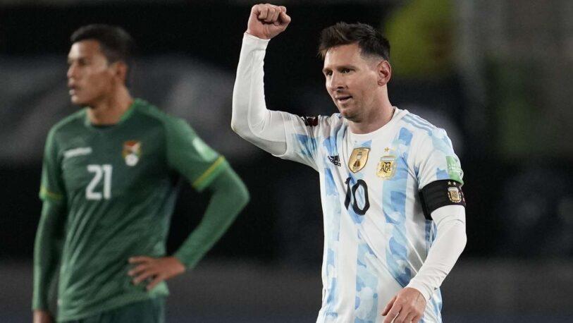 Con triplete de Messi, Argentina goleó a Bolivia