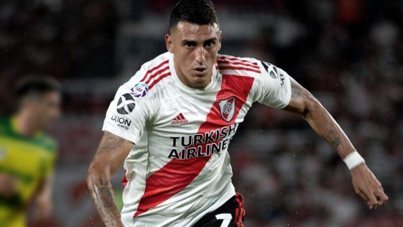 Matías Suárez tomó contacto con la pelota