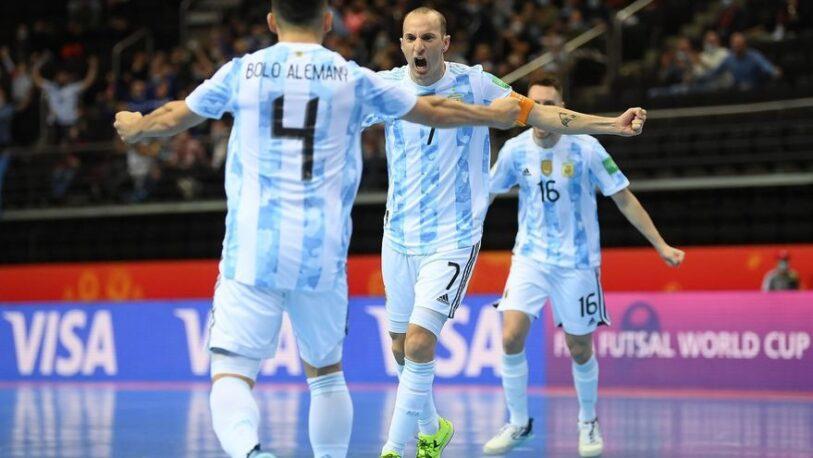 Mundial de Futsal: Argentina eliminó a Rusia y ya se encuentra en semifinales