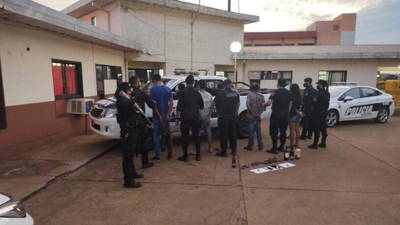 Oberá: detuvieron a 5 hombres por apedrear a policías