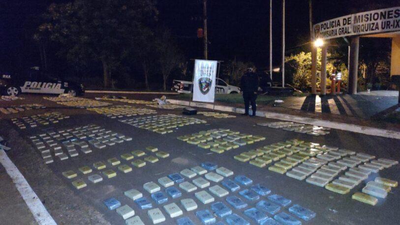 Secuestraron más de 450 kilos de marihuana en General Urquiza