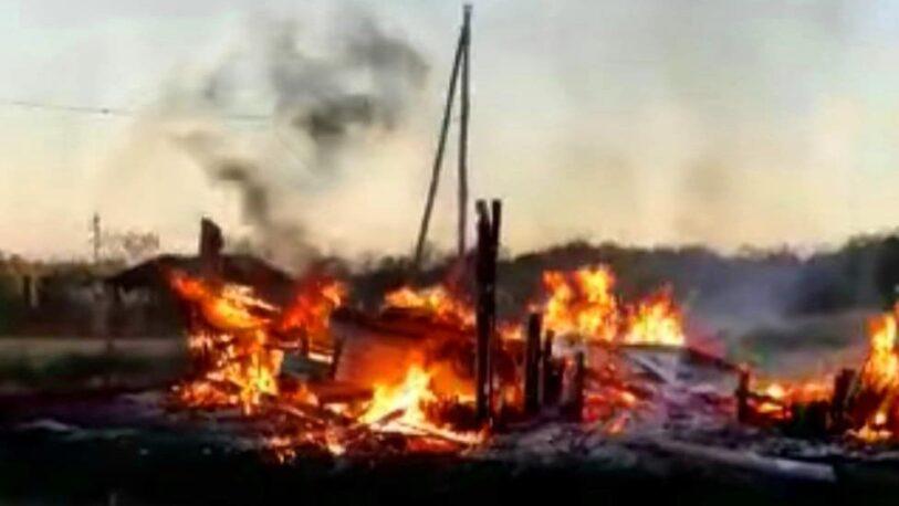Incendios destruyeron una vivienda familiar y una producción de yerba mate