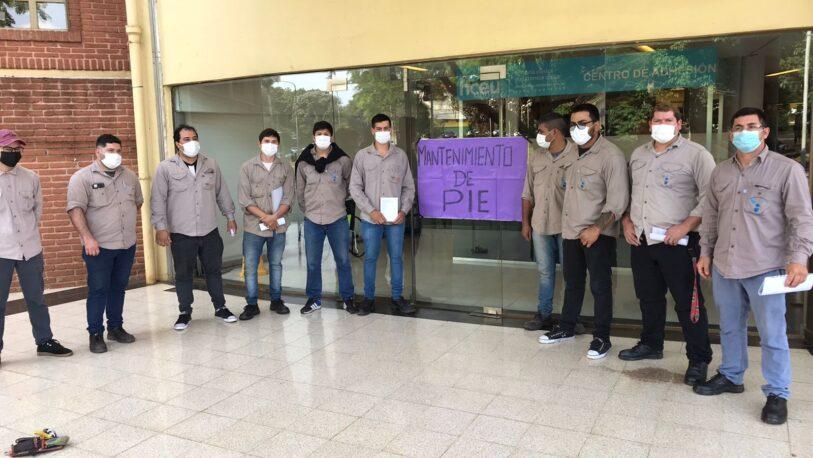 Parque de la Salud: reclamo de trabajadores de mantenimiento