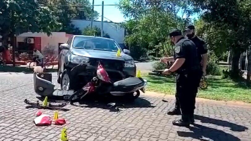 Fuerte choque en avenida Tomás Guido