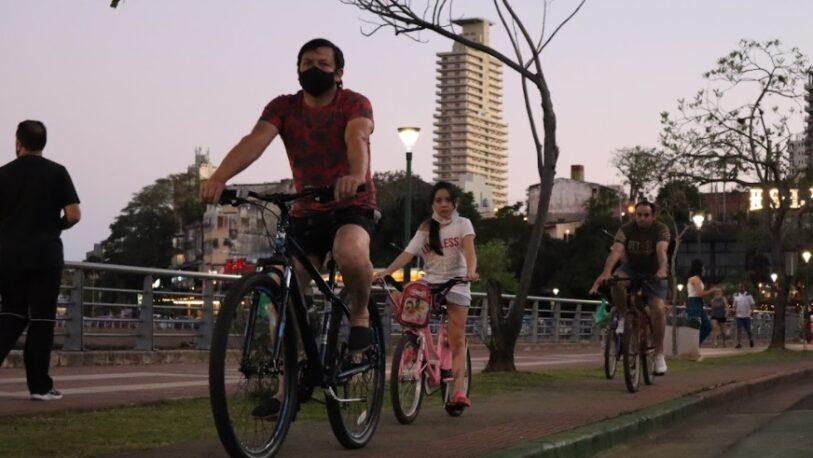 Más de 4 mil posadeños se sumaron a la jornada sin auto en la Costanera