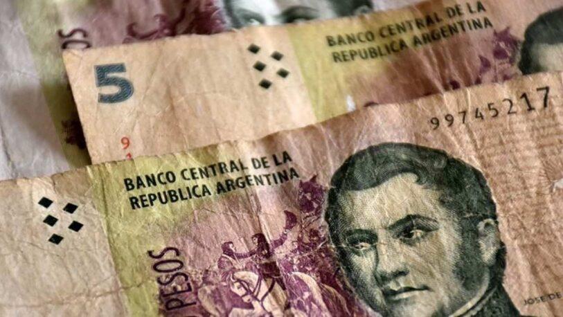 El Banco Central prorrogó la recepción de los billetes de 5 pesos