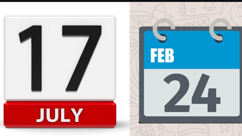 WhatsApp: Por esta razón el emoji del calendario marca el 24 de febrero y 17 de julio