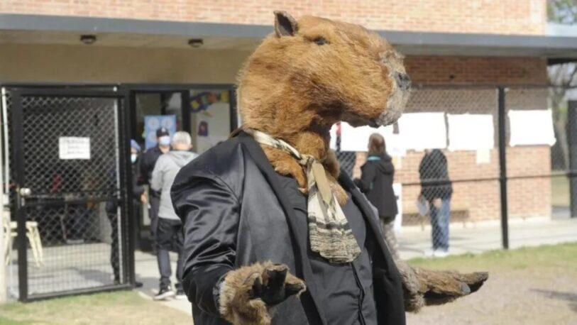 """Un """"carpincho"""" votó en una escuela de Nordelta"""