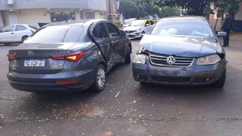 Chocaron dos automóviles en el barrio El Palomar