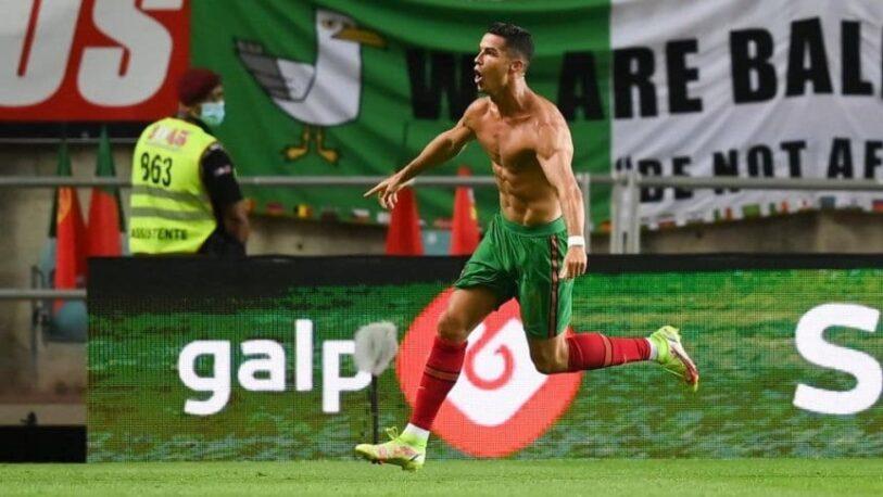 Cristiano Ronaldo alcanzó el récord con Portugal
