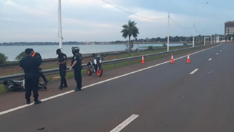 Un motociclista falleció tras despistar en el acceso sur de Posadas