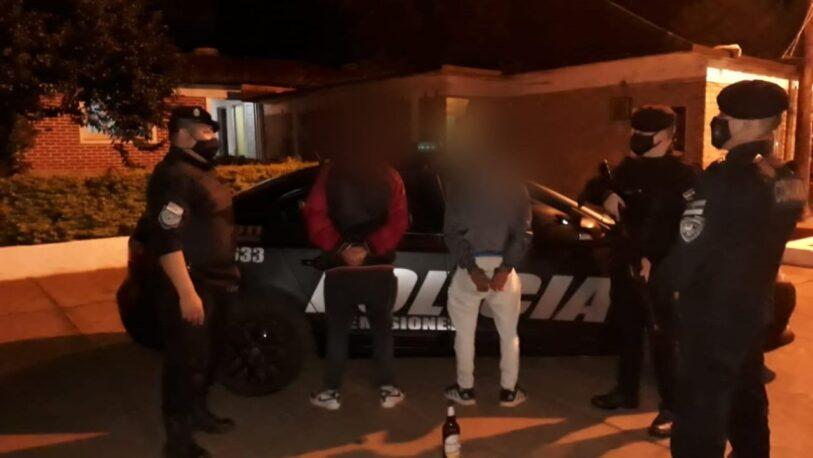 Dos hombres fueron detenidos por agredir a una mujer en Campo Viera
