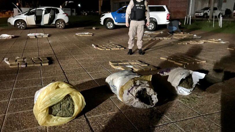 Secuestran más de 270 kilos de marihuana: un detenido