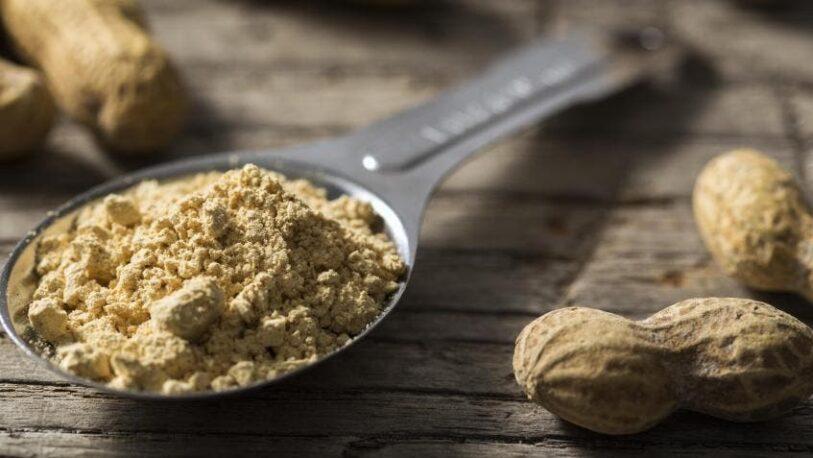 Harina de maní, un alimento proteico y bajo en calorías