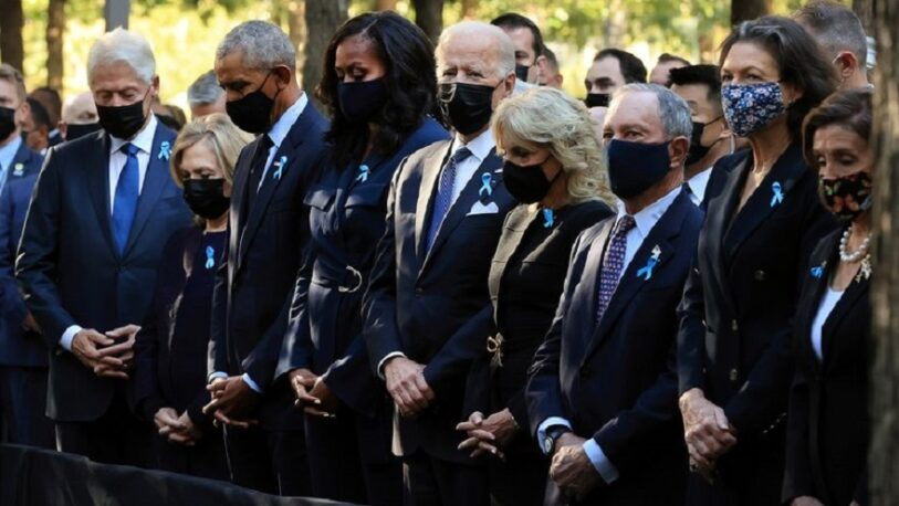 11 de septiembre: Biden, Obama y Clinton participaron de las ceremonias por el 20º aniversario del atentando a las Torres Gemelas