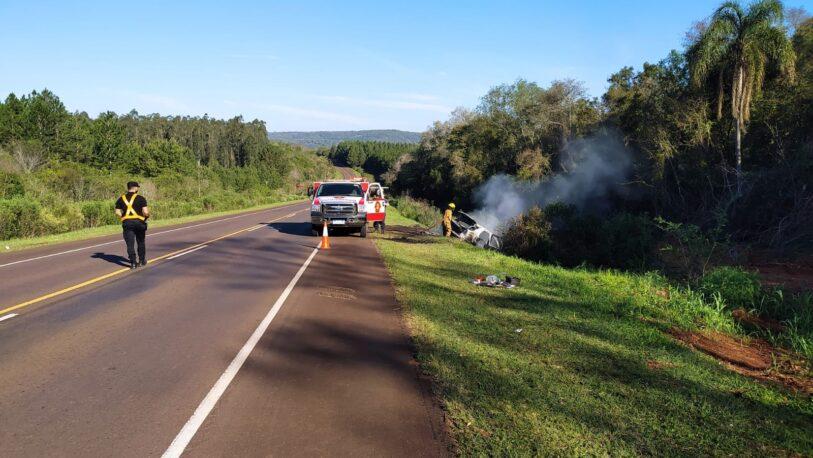 Se incendió un vehículo en la ruta 103