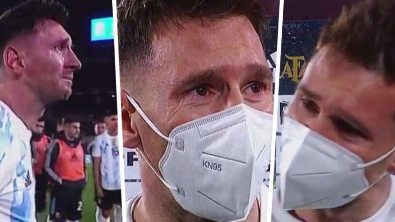Lionel Messi rompió en llanto tras el triunfo ante Bolivia