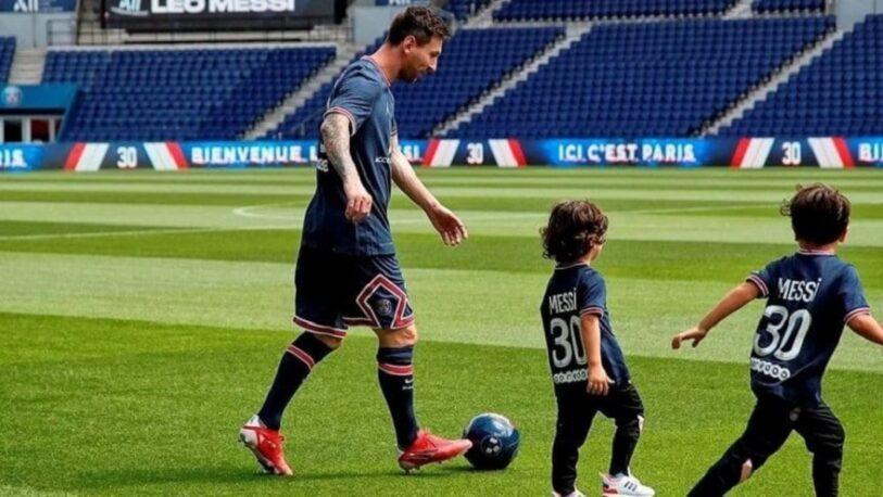 Messi anotó a sus hijos en las inferiores del PSG