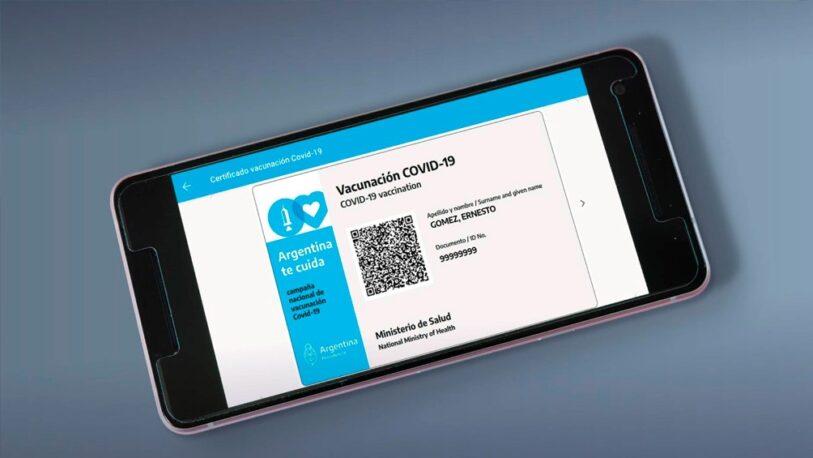 Covid-19: La app Mi Argentina funcionará como documento oficial de vacunación en el exterior