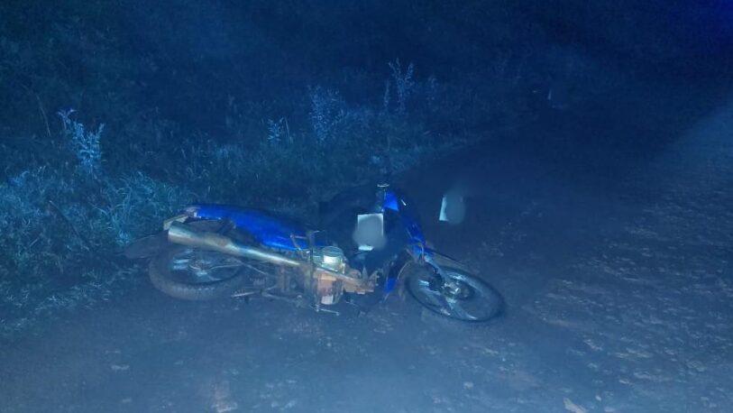 Apóstoles: falleció un motociclista en una calle entoscada
