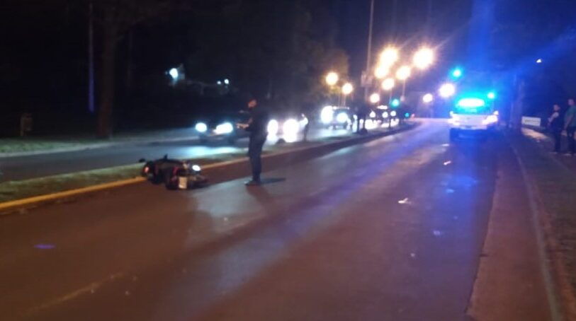 Un motociclista falleció tras despistar en la Autovía de Acceso a Oberá