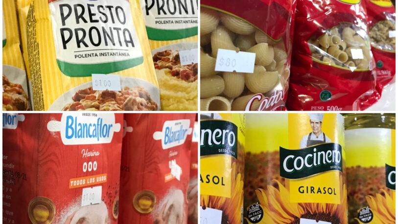 Harina y polenta a $100 en las despensas