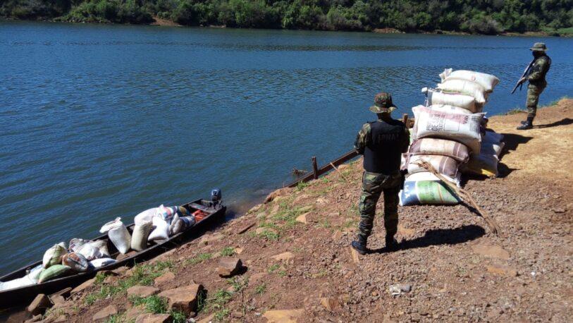 Secuestran más de cinco toneladas de soja en El Soberbio