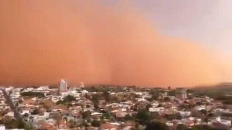 Imágenes de la tormenta de viento, arena y polvo de San Pablo