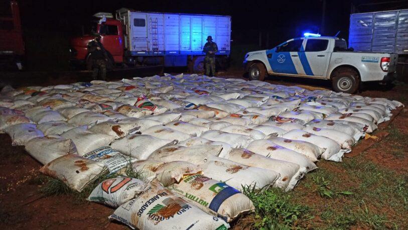 El Soberbio: secuestraron más de 17 toneladas de granos de maíz de contrabando