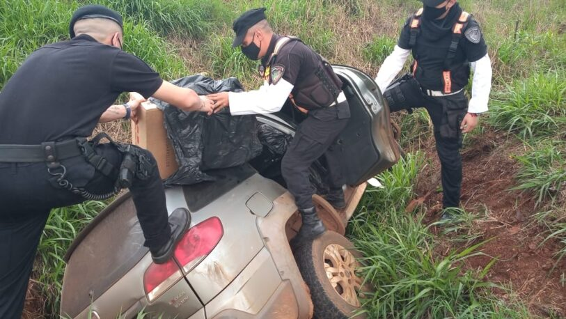 Escapó de la policía, despistó y fue detenido