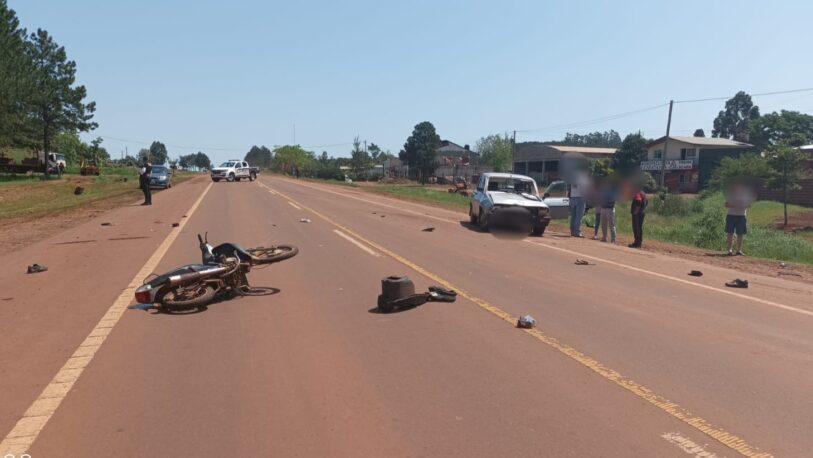 Falleció un motociclista tras un choque en San Vicente
