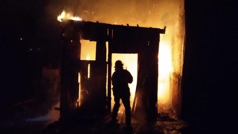Incendio consumió una casa en Oberá