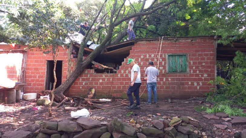 La caída de un árbol destruyó su casa y 5 niños se salvaron de milagro