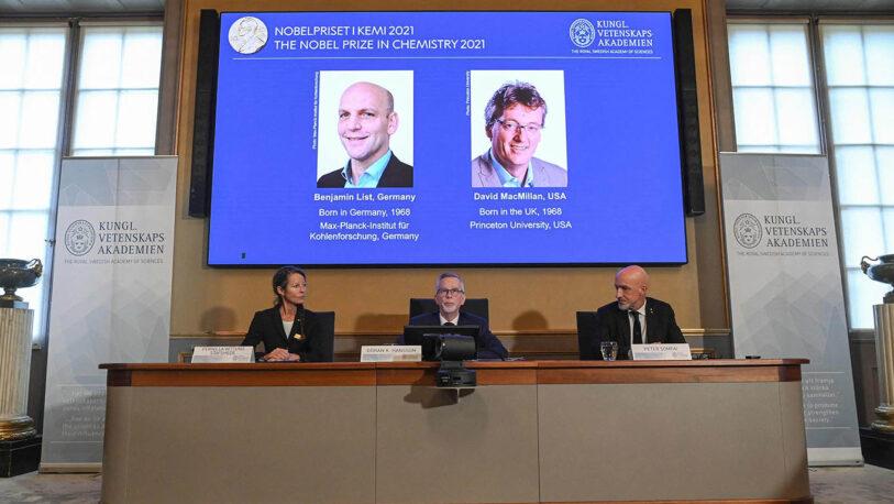 Nobel de Química para los padres de la organocatálisis
