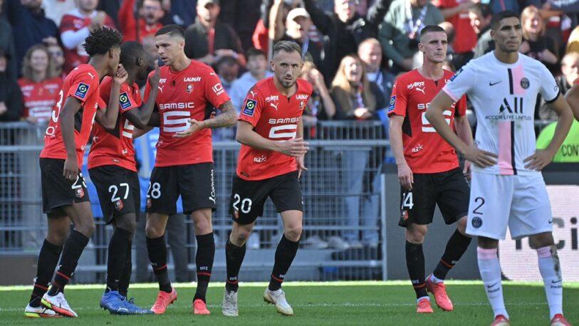 Con Messi de titular, PSG cayó ante Rennes y perdió el invicto
