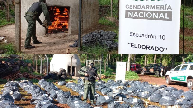 Incineraron más de seis mil kilos de marihuana en Eldorado