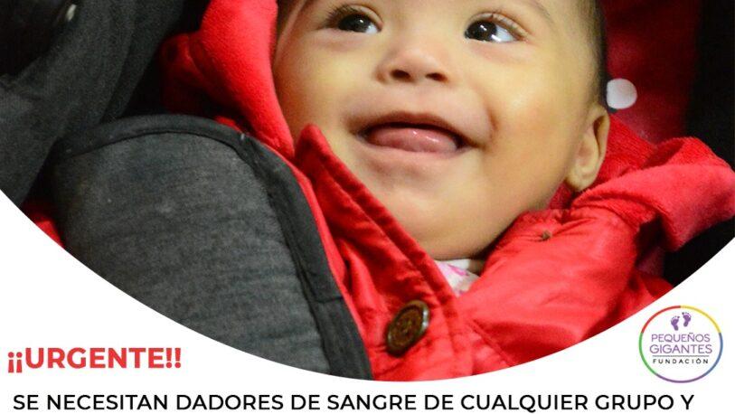 Solicitan dadores de sangre para una beba internada en Posadas