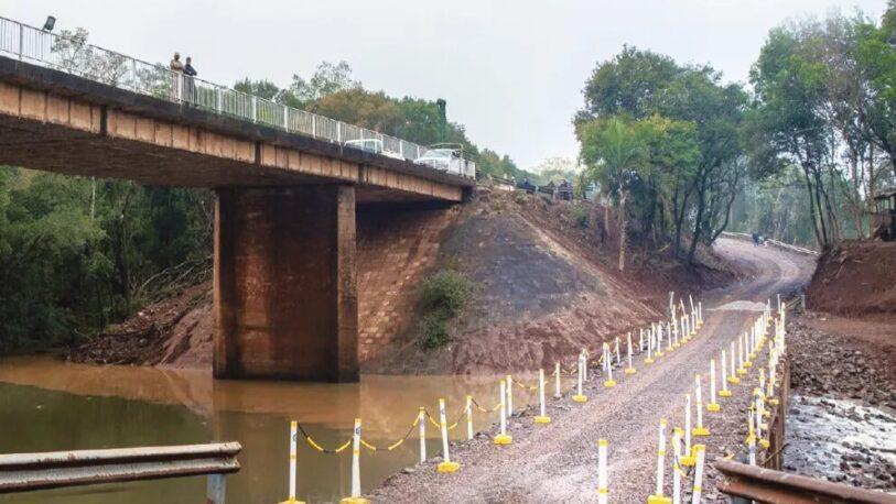 Aº Pindaytí: Habilitan desvío por daños en puente provisorio