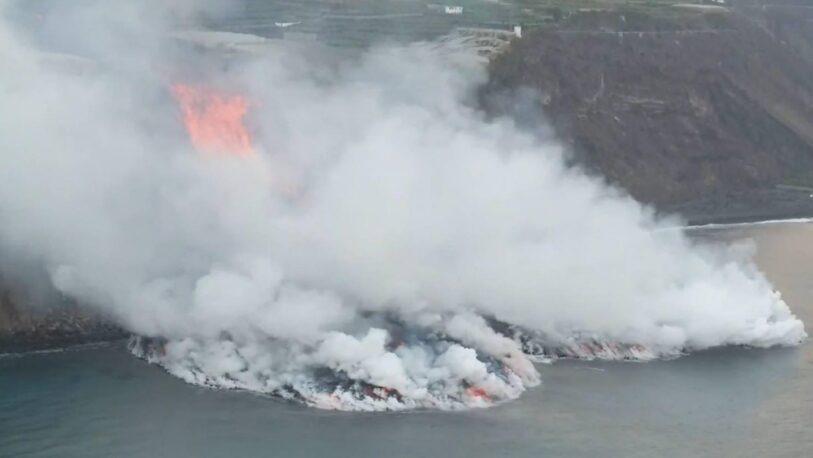 Se registraron 18 terremotos tras la llegada de la lava del volcán de La Palma al mar
